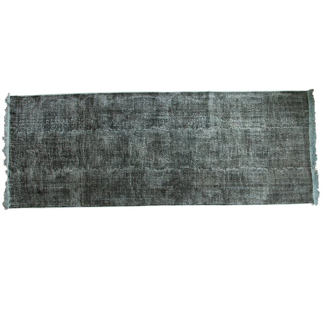 """Vintage Overdyed Distressed Runner - 5' X 13'3"""" - Image 1 of 10"""