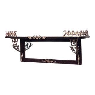 Art Nouveau Mahogany Wall Shelf For Sale