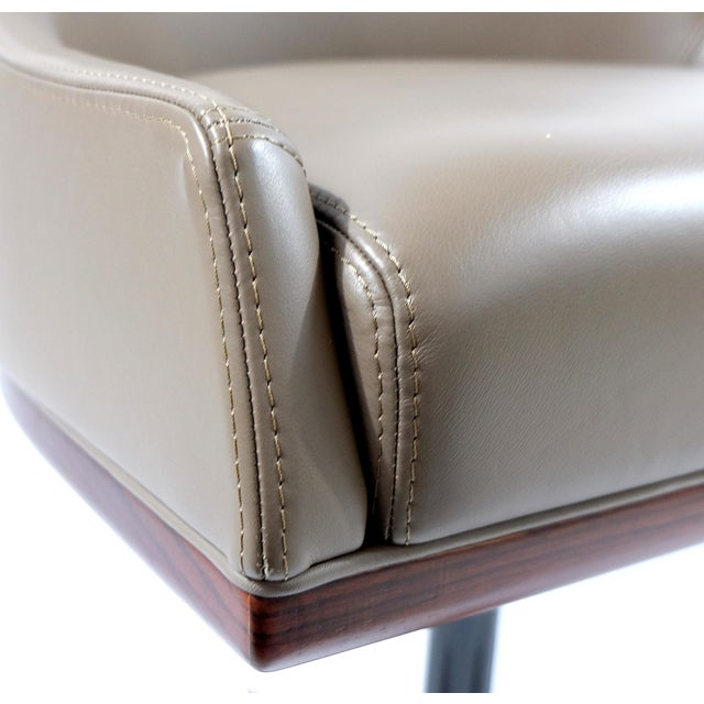 """Taupe Medea Mobilidea """"Chic"""" Swivel Chairs Designed by Umberto Asnago- a Pair For Sale - Image 8 of 12"""