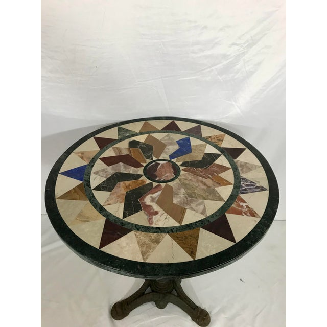 French Antique Bistro Table For Sale - Image 6 of 7