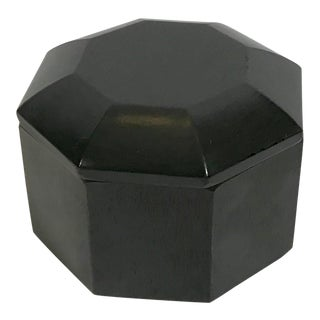 Vintage George Briard Black Laquered Octagonal Box For Sale