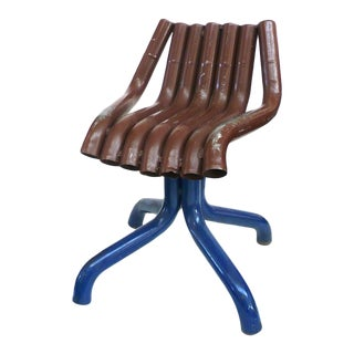 Folk Art Ford Pinto Tailpipe Chair For Sale