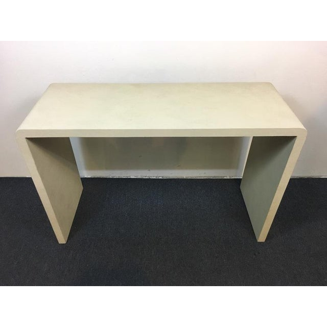 Place something unexpected in your decor to shake things up a bit with this Art Deco Style Console Table. Covered in Faux...