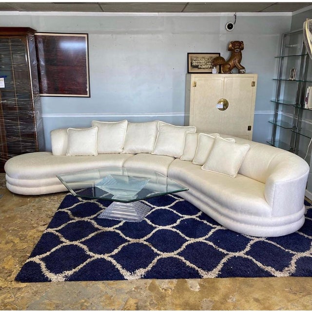 Vladimir Kagan Serpentine Cloud Sofa For Sale - Image 10 of 10