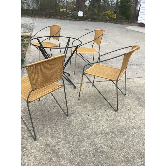 Maurizio Tempestini by Salterini Patio Table Chairs Dining Patio Last Call For Sale - Image 10 of 13