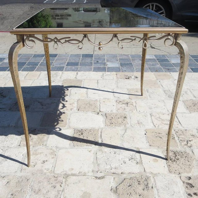 Églomisé Mirrored Game Table in the Manner of Rene Drouet For Sale In Los Angeles - Image 6 of 9