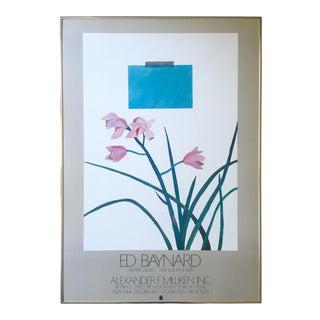 Ed Baynard Rare Vintage 1978 Lmtd Edtn Modernist Lithograph Print Framed Exhibition Poster For Sale