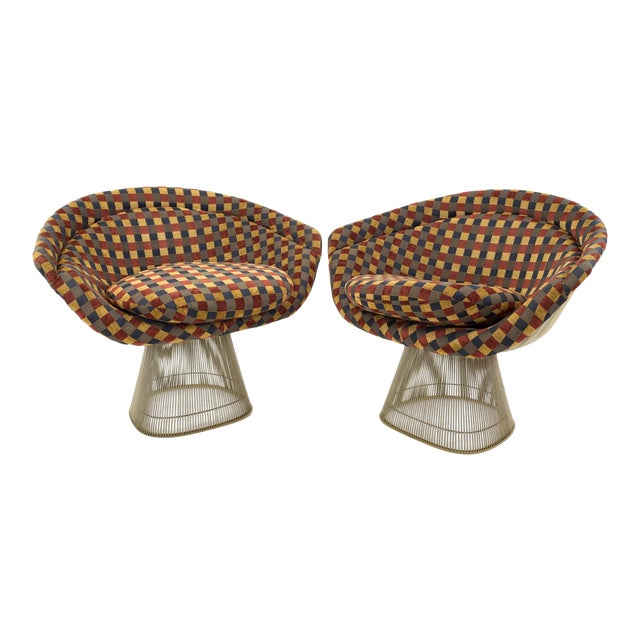 Mid Century Modern Warren Platner Lounge Chairs - a Pair For Sale