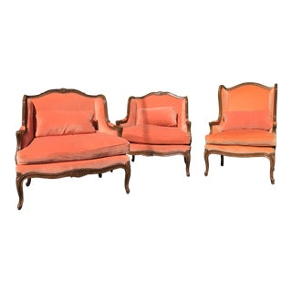 Vintage Baker Furniture Coral Chairs - Set of 3 For Sale