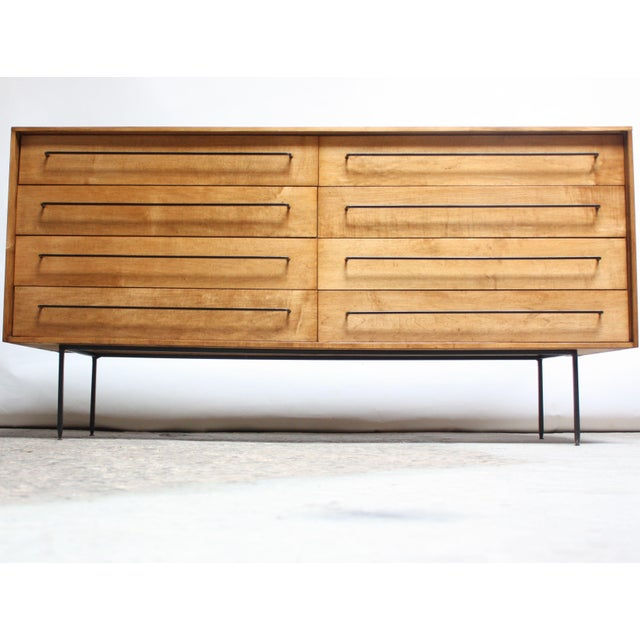 Milo Baughman for Murray Eight-Drawer Chest in Maple and Iron For Sale - Image 13 of 13