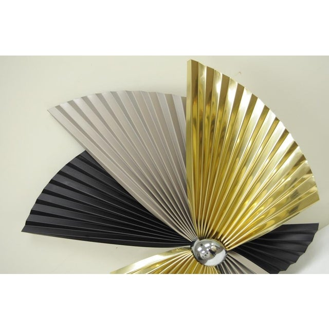 Vintage Curtis Jere Mid Century Modern Tri-Color Fan Metal Wall ...