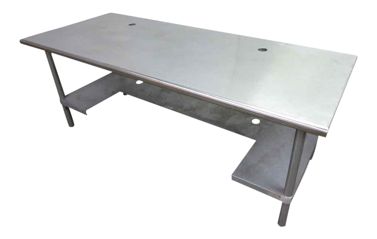 Bon Stainless Steel Industrial Table With Shelf