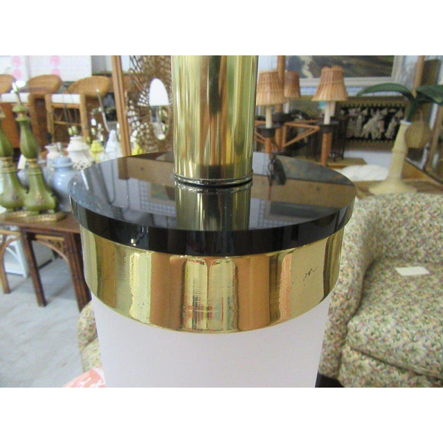 Brass & Lucite Bauer Lamps - A Pair - Image 2 of 8