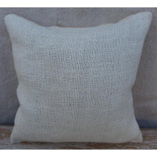Custom lavender sachet made with hand stenciled designer linen front and natural linen back.
