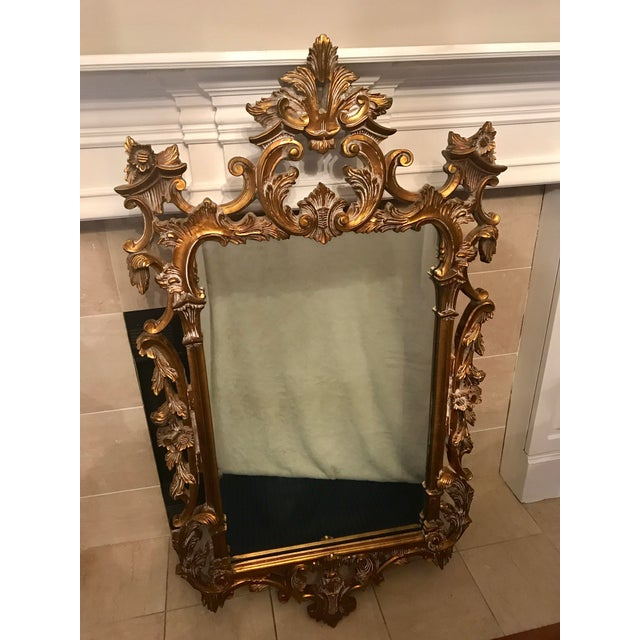ead37cdb24cf3 Glass Vintage French Provincial Gold Leaf Mirror For Sale - Image 7 of 8