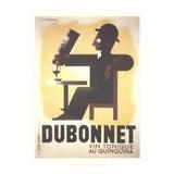 "Image of A.m. Cassandre Dubonnet 39.25"" X 27.5"" Poster 1998 Vintage Brown, Black, White Wine, French, Drinking, Vintage For Sale"
