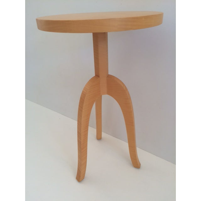 Todd Hase Todd Hase Sycamore Marquetry Gueridon Table For Sale - Image 4 of 10