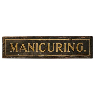 Early Manicuring Sign For Sale