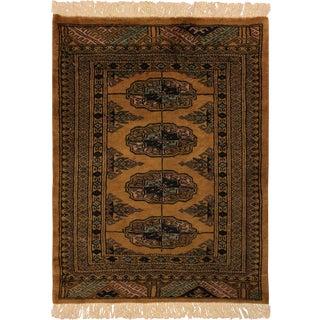 "Bokara Arya Leone Gold Black Wool Rug - 2'2"" x 2'10"""