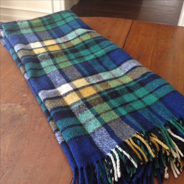 Plaid Wool Tailgate/Picnic Blanket - Image 9 of 11