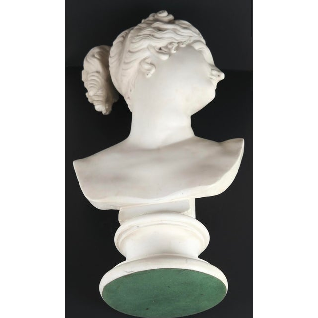 Neoclassical Neoclassical Classical Bust of Goddess Diana For Sale - Image 3 of 6