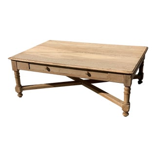 Late 19th Century Bleached Oak Coffee Table For Sale