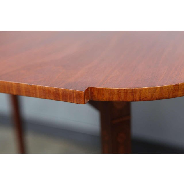 Brown Federal Style Mahogany Game Table For Sale - Image 8 of 9