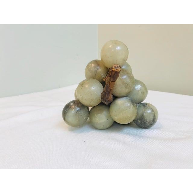 Vintage Green & Grey Marbled Alabaster Grape Cluster For Sale - Image 4 of 7