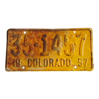 1957 Vintage Colorado License Plate Wall Decor