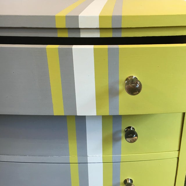 Grey & White Striped Chest of Drawers - Image 3 of 6