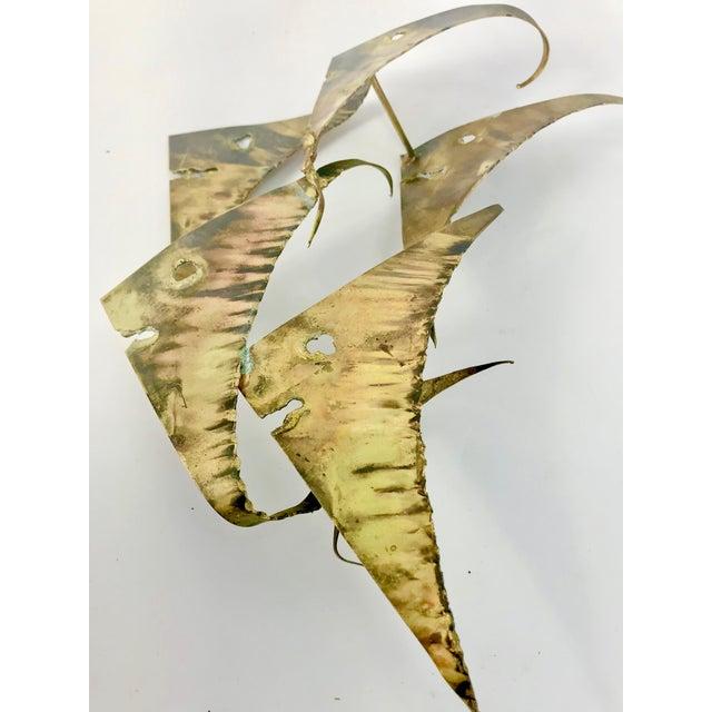 Mid-Century Bronze Fish Brutalist Style Wall Art | Chairish