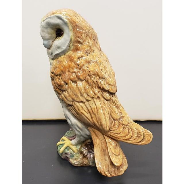 Circa 1960 English Beswick Pottery Barn Owl Figurine (#1046 For Sale - Image 4 of 6