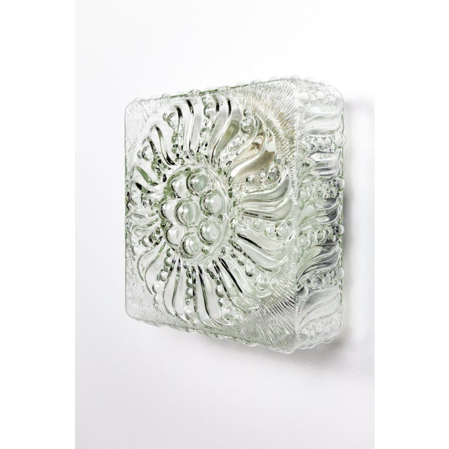 Cottage Mid-Century Radial Bloom Glass Flush Mount For Sale - Image 3 of 12