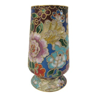 Colorful Cloisonné Bud Vase For Sale