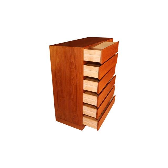 1970s Danish Modern Teak Storage Gents Chest Dresser For Sale - Image 5 of 10