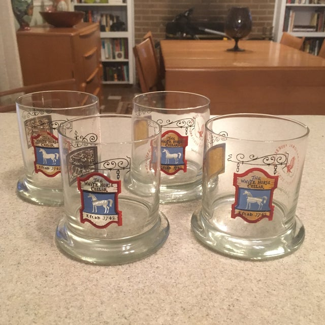 The White Horse Cellar Vintage Tumbler Glasses - Set of 4 For Sale In Charlotte - Image 6 of 7