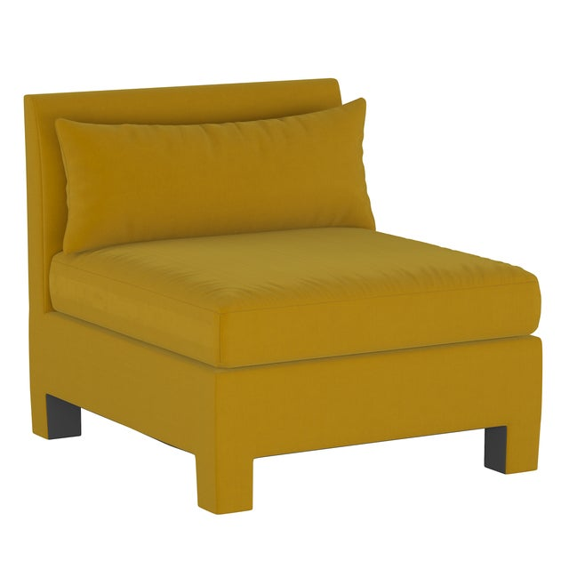 Not Yet Made - Made To Order 4 Piece Sectional , Monaco Citronella For Sale - Image 5 of 9