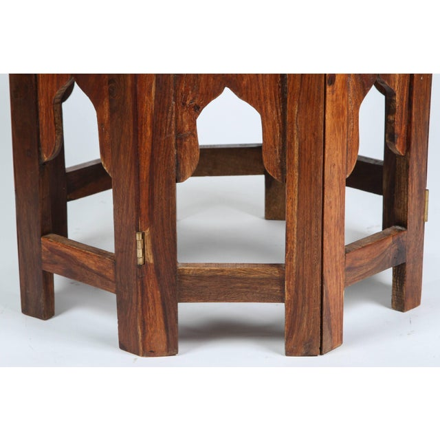 Mid 20th Century Anglo Indian Bone Inlaid Octagonal Side Table For Sale - Image 5 of 8