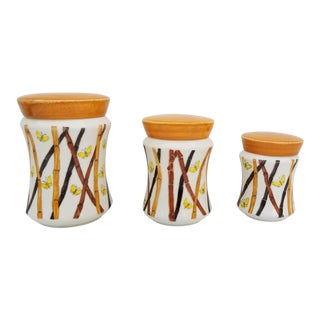 Italian Ernestine of Salerno Hand Painted Canister - Set of 3