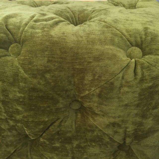 Green Tufted Velvet Ottoman/Coffee Table - Image 7 of 7