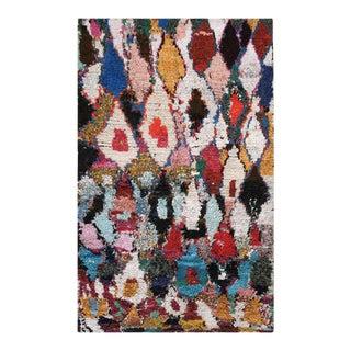"Vintage Moroccan - Boucherouitte Rug, 5'4""x8'0"" For Sale"