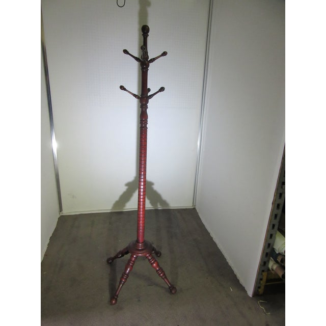 19th Century Victorian American Coat Rack With Turned Dowels For Sale In Philadelphia - Image 6 of 6