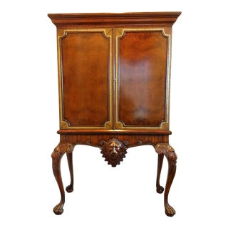 Traditional Maitland-Smith Hutch/Dry Bar With Separate Base Component For Sale