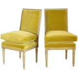 Image of Pair of Louis XVI Style Slipper Chairs