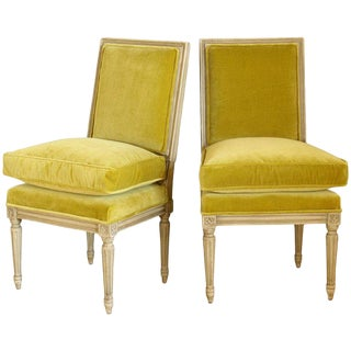 Pair of Louis XVI Style Slipper Chairs For Sale