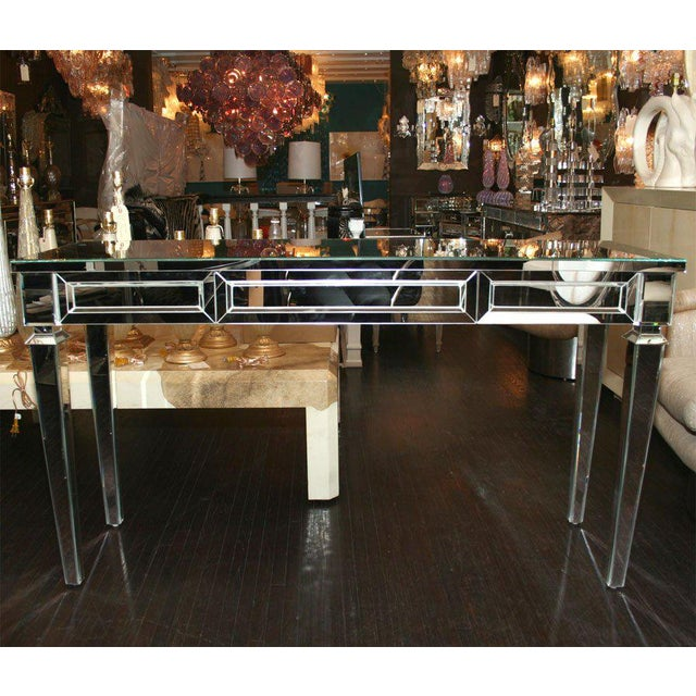 Custom Mirrored Console Table For Sale In New York - Image 6 of 8