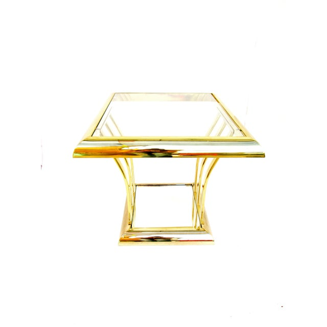 Post-Modern Two-Tier Brass End Tables - A Pair - Image 6 of 8