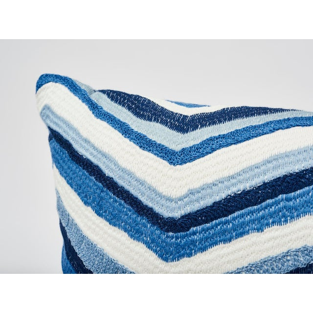 Schumacher's Shasta Embroidery is notable for its rich, textured all-over embroidery. Each chevron stripe is made of a...