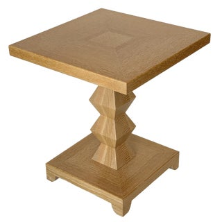 Donghia Jmf Jean-Michel Frank Cerused Oak Side Table For Sale