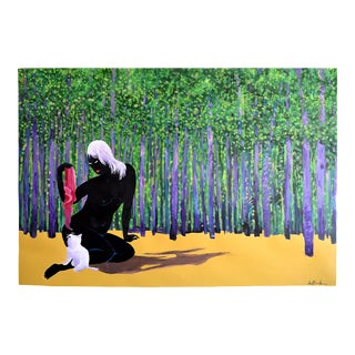 """Black Forest Figure"" Geoff Greene Painting For Sale"